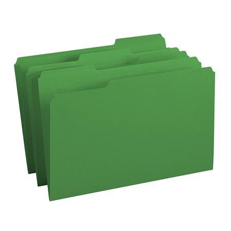 Chemises à dossier de couleur Format légal vert