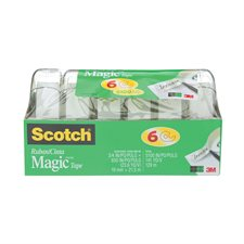 Ruban adhésif Scotch® Magic™ Dévidoir 19 mm x 21,5 m. Paquet de 6.
