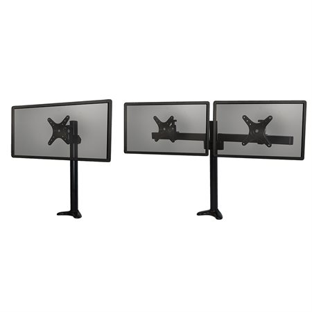Monitor Mount with Single and Dual Arm Components
