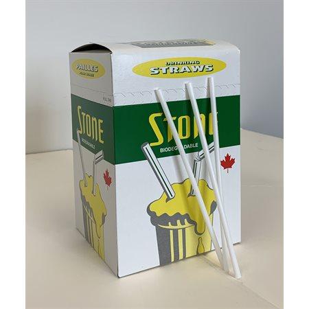 Pailles en papier compostables