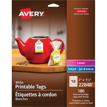 Étiquettes à cordon