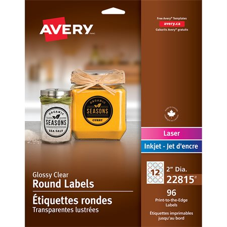 Self-Adhesive Glossy Round Labels