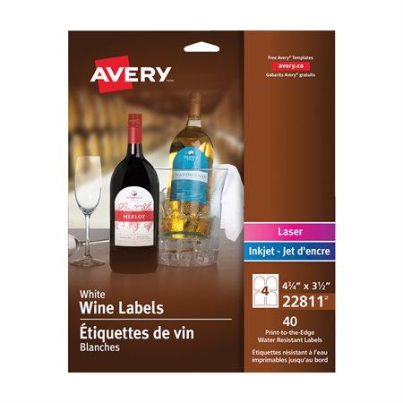 Étiquettes de vin autoadhésives