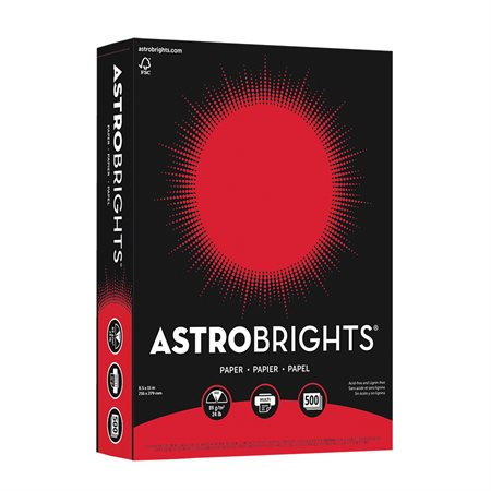 Papier de couleur Astrobrights® rouge