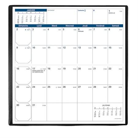 Agenda de poche mensuel Visoplan (2021) français