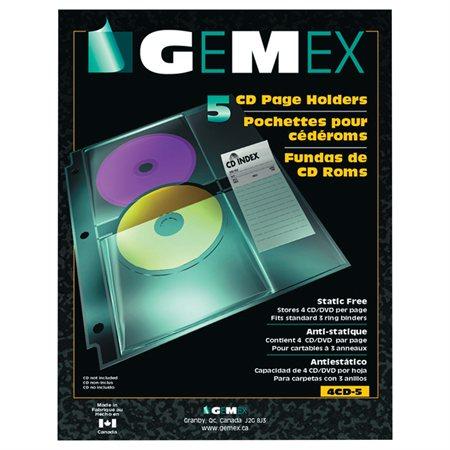 Pochette transparente pour CD / DVD