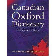 Dictionnaire anglais The Canadian Oxford