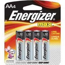 Piles alcalines Max 4 x AA