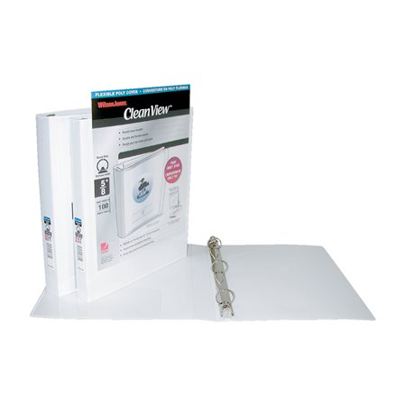Reliure de présentation flexible Professional  CleanView 1 po.-  175 feuilles. blanc