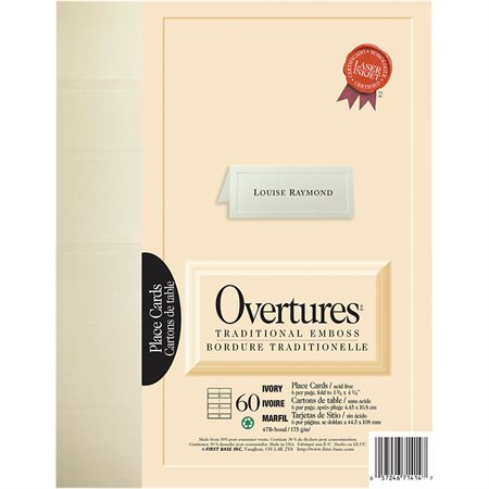 Overtures® Traditional Place Card