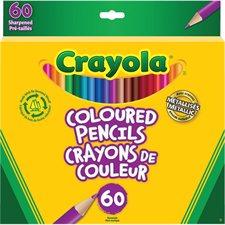 Crayola® Wood  Colouring Pencils Box of 60 with metallic pencils