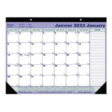 Calendrier sous-main mensuel (2021) 21-1/4 x 16 po bilingue