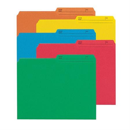 Chemises à dossier réversibles de couleur Format lettre vert