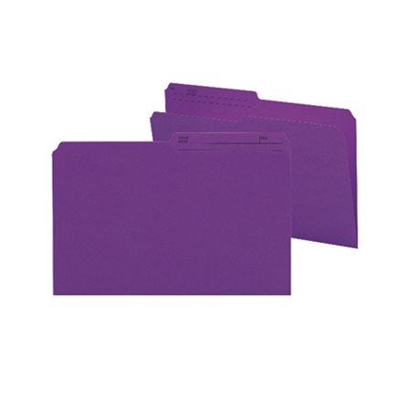 Chemises à dossier réversibles de couleur Format légal violet