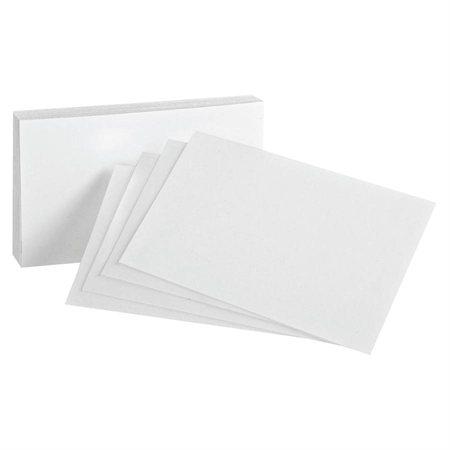 White Index Cards