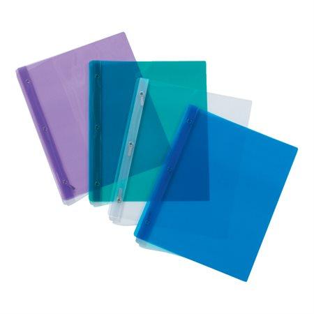 Couverture de présentation à trois attaches Poly Tang couleurs variées