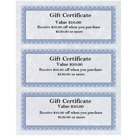 """St.James Design Bond"" gift certificates"