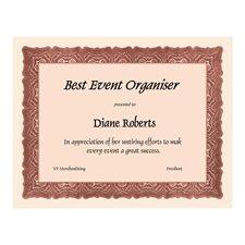 Certificats St.James™ Paquet de 25 rouge
