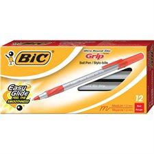Round Stic™ Grip Ballpoint Pens Medium point red