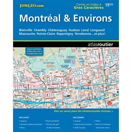 """Atlas des régions du Québec Montréal & Environs, 8-1 / 2 x 11"""""""