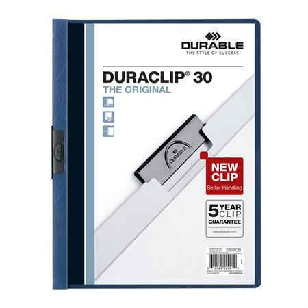 Couverture de présentation Duraclip® Capacité de 30 feuilles bleu foncé