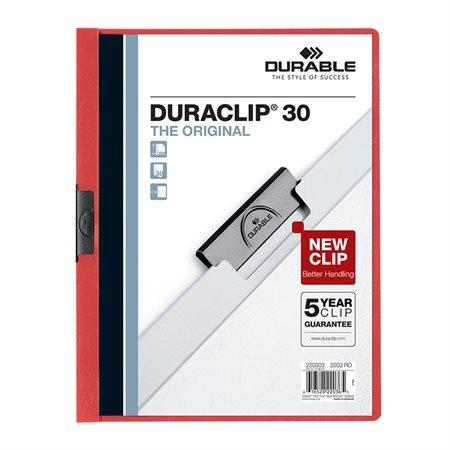 Couverture de présentation Duraclip® Capacité de 30 feuilles rouge