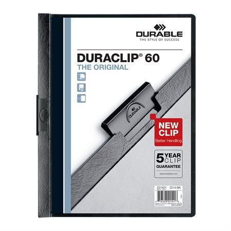 Couverture de présentation Duraclip® Capacité de 60 feuilles noir