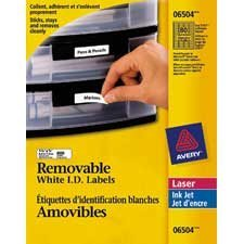 """Étiquettes d'identification amovibles 1-3 / 4 x 1 / 2"""" (800)"""