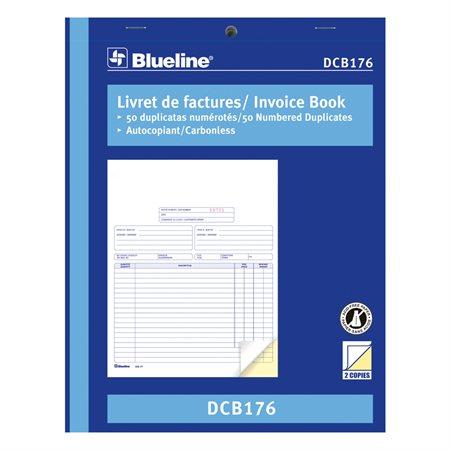 "Livret de factures 8-1 / 2 x 11"", bilingue duplicata"
