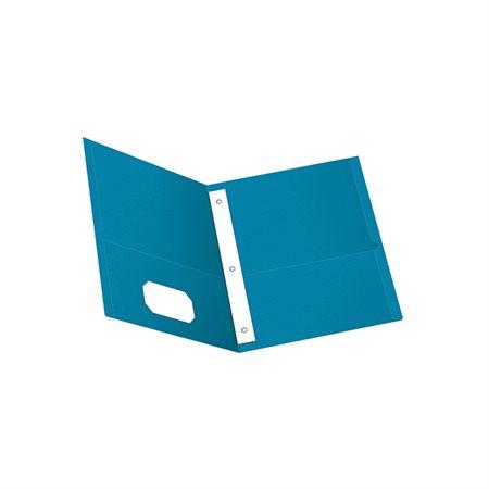 Couverture à pochettes bleu pâle
