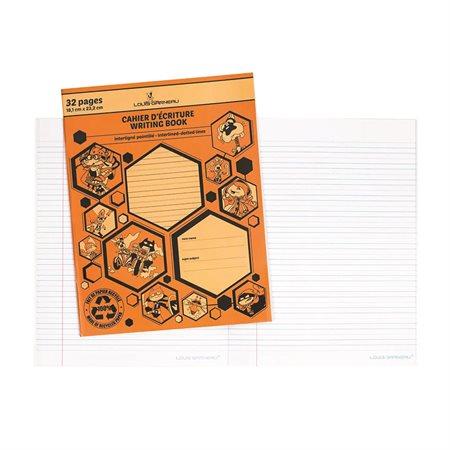 Cahier d'écriture pointillé et interligné Louis Garneau® orange
