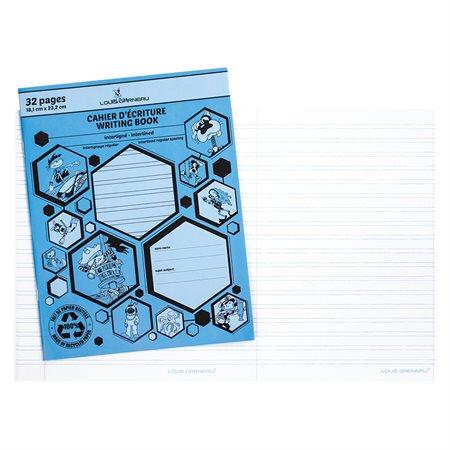 Cahier d'exercices bleu