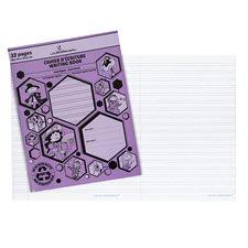 Cahier d'exercices mauve