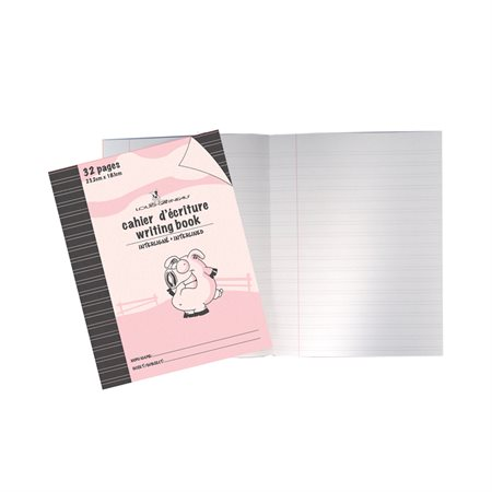 Cahier d'exercices rose