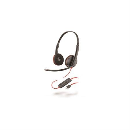 Casque téléphonique Blackwire 3200 Series C3220 - Écouteur double USB-C