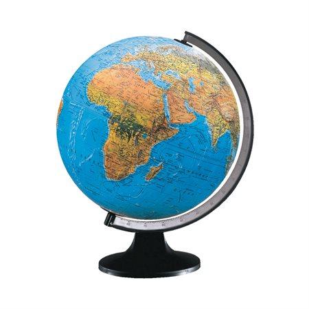 Globe terrestre lumineux anglais