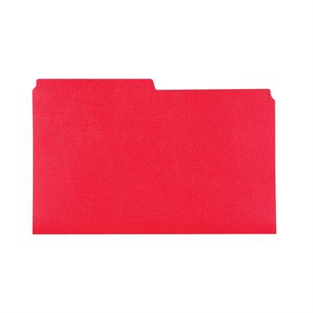 Chemises à dossier Format légal rouge