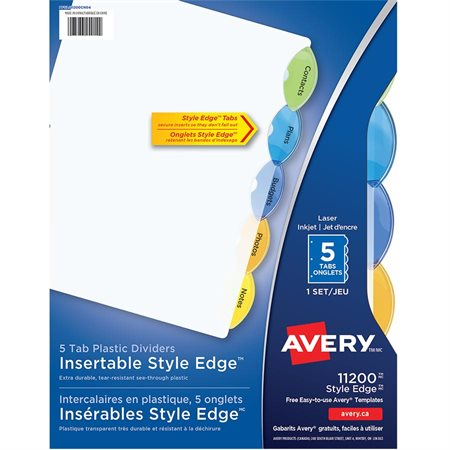 Intercalaires Style Edge 5 onglets