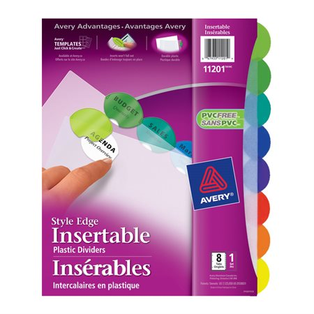 Intercalaires Style Edge 8 onglets