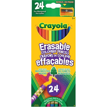 IQ Erasable Wood Colouring Pencils