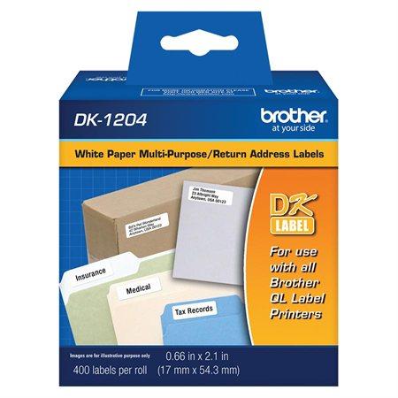 """Étiquettes pour imprimante QL Usages multiples 2-1 / 8 x 2 / 3"""" (400)"""