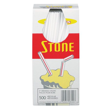 """Pailles de 8"""" Stone"""