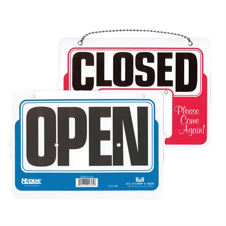 Enseigne OPEN / CLOSED à 2 côtés