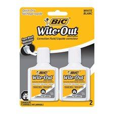Liquide correcteur Wite-Out® Séchage Rapide Paquet de 2