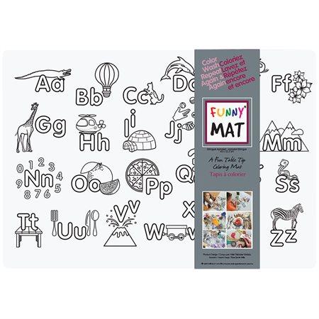 Napperon à colorier Funny Mat® alphabet