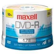 Disque DVD-R inscriptible 16x Sur axe pqt 50