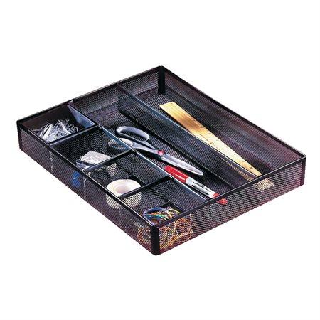 """Plateau à tiroir Mesh 6 compartiments. 15-1 / 4 x 11-3 / 4 x 2-3 / 8""""H"""