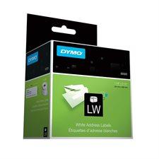"""Étiquettes d'adresse pour imprimantes LabelWriter® 1-1/8 x 3-1/2"""" (2 roul.de 350)"""