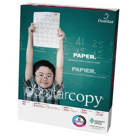 Papier DomtarCopy® 20 lb lettre, 3 perforations