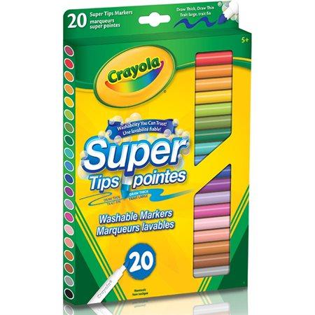 Marqueurs à colorier Super pointes pqt 20